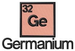 Germanium embroidery design