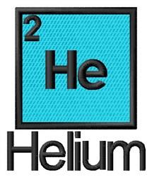 Helium embroidery design
