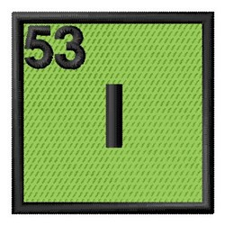 Atomic Number 53 embroidery design