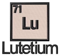 Lutetium embroidery design