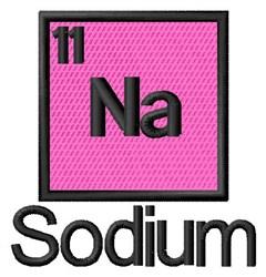 Sodium embroidery design
