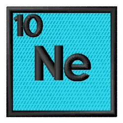 Atomic Number 10 embroidery design
