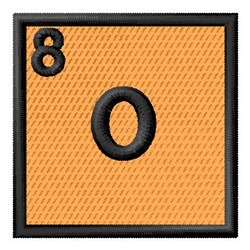 Atomic Number 8 embroidery design