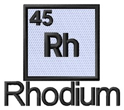 Rhodium embroidery design