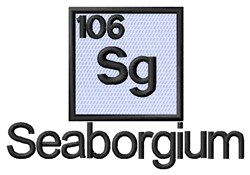 Seaborgium embroidery design