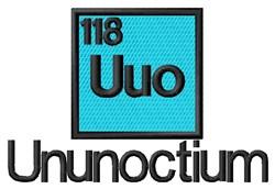 Ununoctium embroidery design