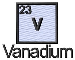Vanadium embroidery design