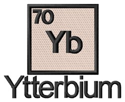 Ytterbium embroidery design