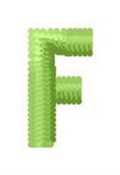 Tree Block Alphabet F embroidery design