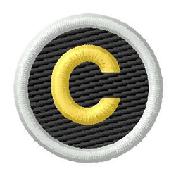 Letter C embroidery design