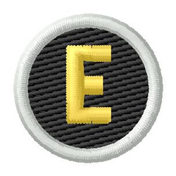 Letter E embroidery design