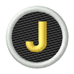Letter J embroidery design