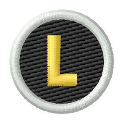 Letter L embroidery design