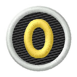 Letter O embroidery design