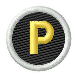 Letter P embroidery design