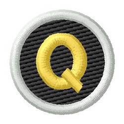 Letter Q embroidery design