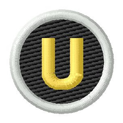 Letter U embroidery design