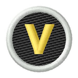 Letter V embroidery design