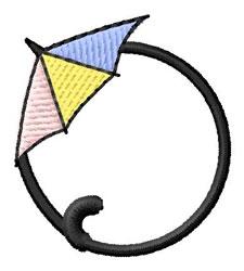 Umbrella Font 0 embroidery design