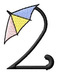 Umbrella Font 2 embroidery design