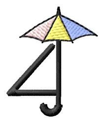 Umbrella Font 4 embroidery design