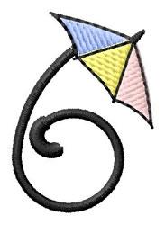 Umbrella Font 6 embroidery design