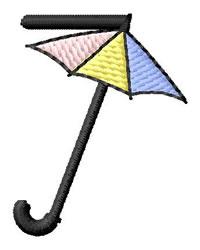 Umbrella Font 7 embroidery design