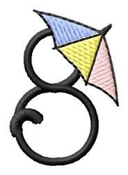 Umbrella Font 8 embroidery design