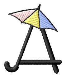 Umbrella Font A embroidery design