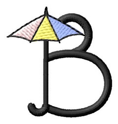 Umbrella Font B embroidery design