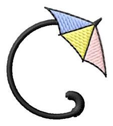 Umbrella Font C embroidery design
