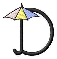 Umbrella Font D embroidery design