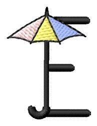 Umbrella Font E embroidery design