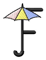 Umbrella Font F embroidery design