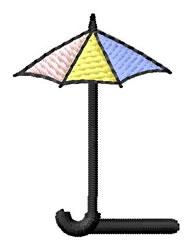 Umbrella Font L embroidery design