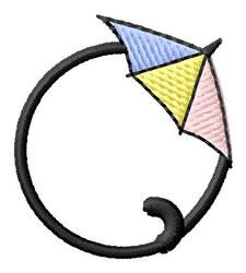 Umbrella Font O embroidery design