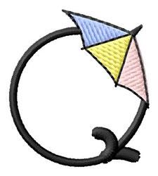 Umbrella Font Q embroidery design