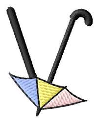Umbrella Font V embroidery design