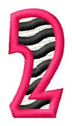 Zebra 2 embroidery design