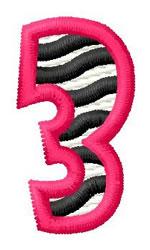 Zebra 3 embroidery design