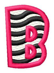 Zebra B embroidery design