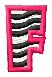 Zebra F embroidery design