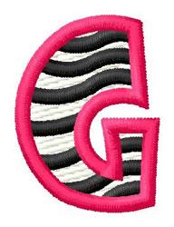 Zebra G embroidery design
