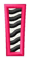 Zebra I embroidery design