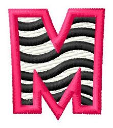 Zebra M embroidery design