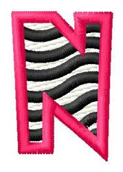 Zebra N embroidery design