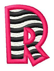 Zebra R embroidery design