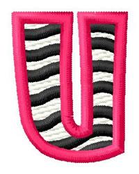 Zebra U embroidery design