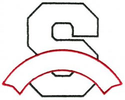 Athletic Banner S embroidery design