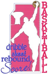 Dribble Shoot embroidery design